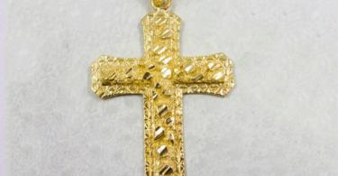 mens gold cross pendants