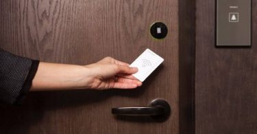 RFID hotel room key card