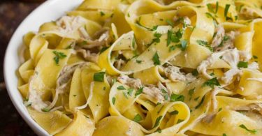 Serve freshly prepared Pappardelle Pasta at home