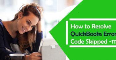 QuickBooks error code skipped 111