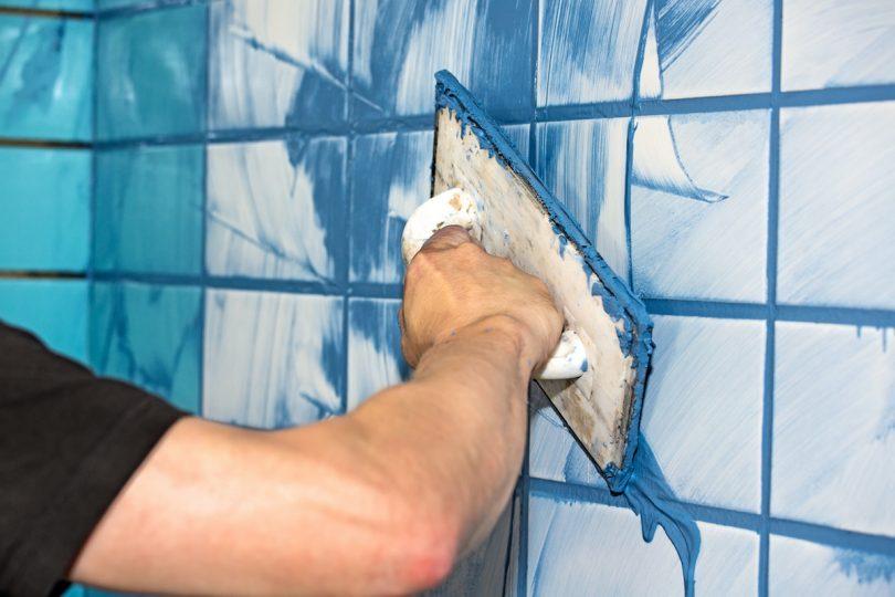 applying-tile-grout