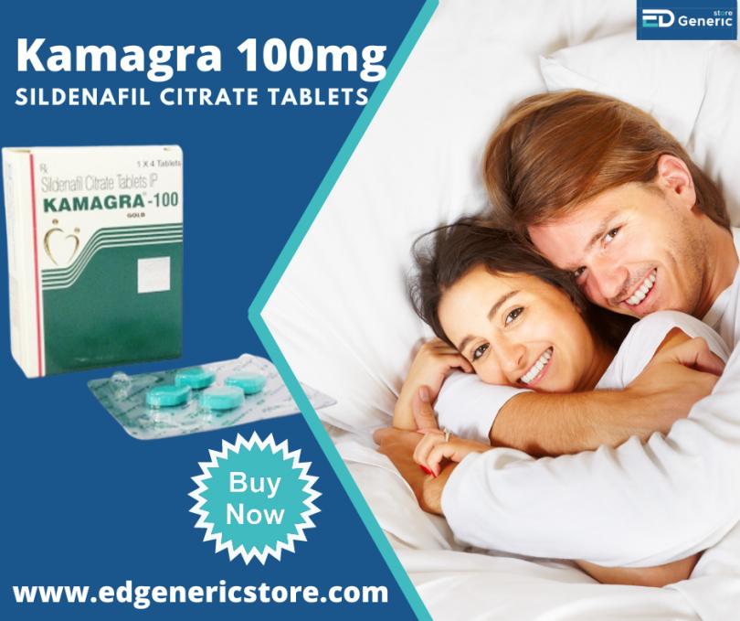 Buy Kamagra 100 mg online for ED treatment